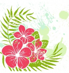 flower grunge background vector image