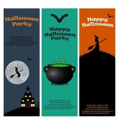 Invitation to a Halloween party vector image