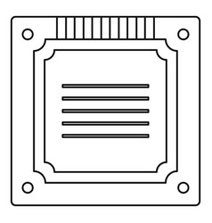 modern multicore cpu icon outline vector image