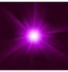 Purple Star Burst Background vector image vector image