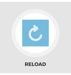 Reload icon flat vector