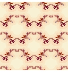 Seamless pattern with autumn wild grape in beige vector image vector image