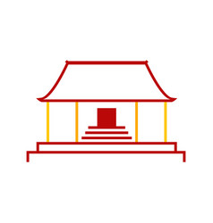 Abstract simple chinese pagoda temple graphic vector