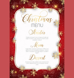 christmas menu design vector image
