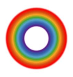 Circle rainbow white background vector