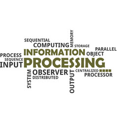 word cloud - information processing vector image