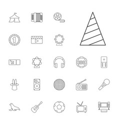 22 entertainment icons vector image