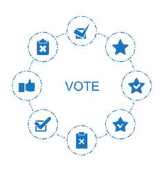 8 vote icons vector