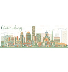 Abstract Ekaterinburg Skyline with Color Buildings vector