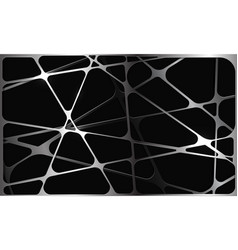 abstract silver polygon mesh overlap on black vector image
