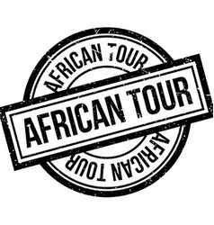 African Tour rubber stamp vector image
