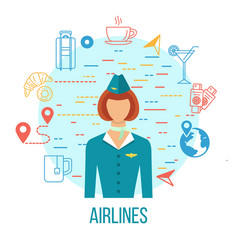 airport icons professions avatar icon vector image