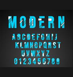 Alphabet font modern design vector