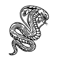 Angry poisonous snake vintage concept vector