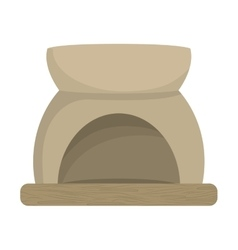 Aromatherapy design Stone bowl icon vector