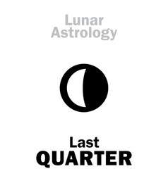 Astrology last quarter of moon vector