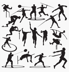 athletic silhouettes vector image