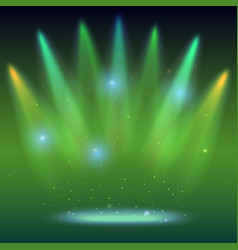 background with rays of light from the colored vector image