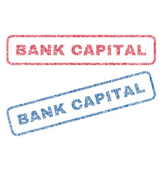 Bank capital textile stamps vector