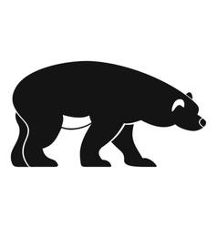 Bear icon simple style vector image