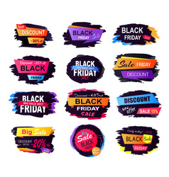 best discount black friday vector image