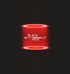 black friday with loading bar and spotlight vector image