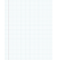 Blank squared paper texture from a notepad vector image