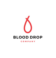 blood drop doodle logo icon vector image