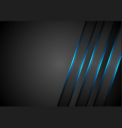 Blue glowing stripes abstract tech background vector