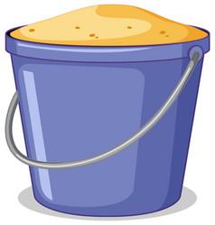 Bucket sand object vector