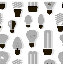 bulb logo icons set pattern vector image
