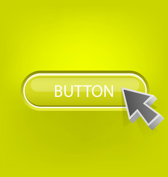 button with the mouse pointer vector image
