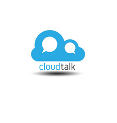 Chat and talk cloud logo vector