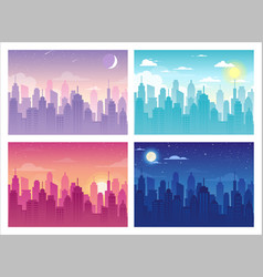 city urban skyline landscape vector image