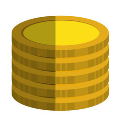Coins treasure isolated icon vector