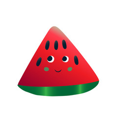 cute smiling watermelon cheerful funny berry vector image