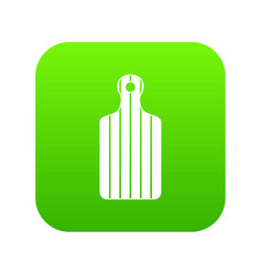 cutting board icon digital green vector image