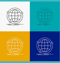 Data global internet network web icon over vector