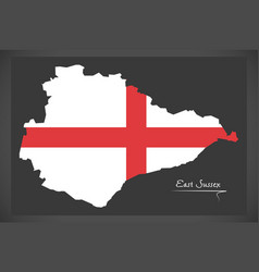 east sussex map england uk with english national vector image