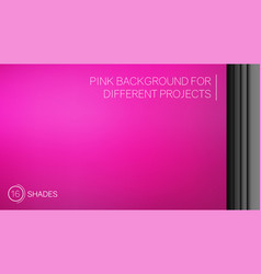 elegant bright pink gradient background vector image