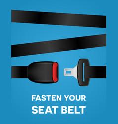 Fasten your seat belt - social typography poster vector