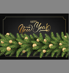 festive background for new year greeting card vector image