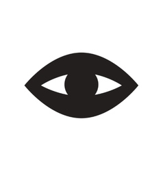 flat icon in black and white style eye problems vector image