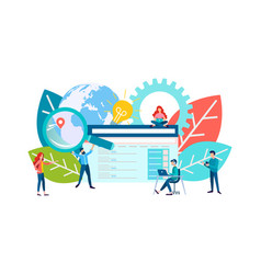 flat seo concept search engine vector image