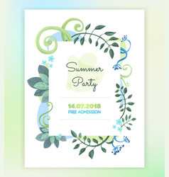 floral-card vector image