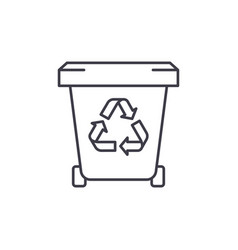 garbage storage line icon concept garbage storage vector image