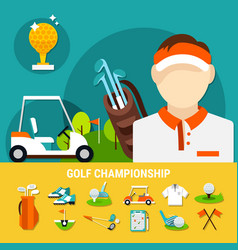 golf championship concept vector image