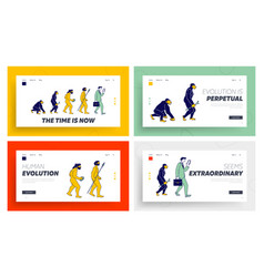 Human evolve steps from ape to businessman vector