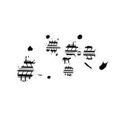 ink blots tire tracks vector image