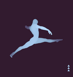 jumping man gymnast 3d human body model vector image